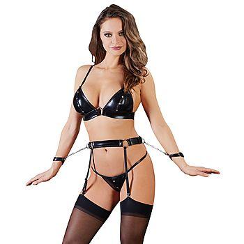 Suspender set for bondage