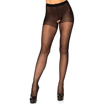 Leg Avenue - Crotchless pantyhose, plus size