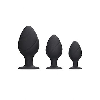 Ouch - Silicone Swirled Butt Plug Set