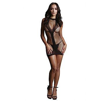 Le Desir - Mini net dress with opaque V shape