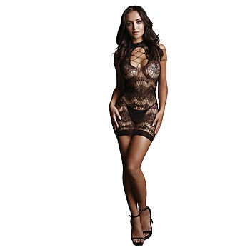 Le Desir - Mini dress with lace-pattern