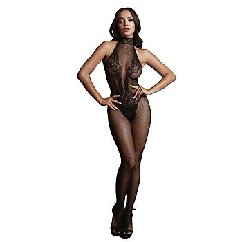 Le Desir - Bodystocking combo lace pattern