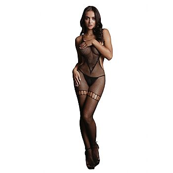 Le Desir - Fish and fence net bodystocking