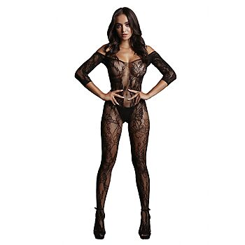 Le Desir - Long-sleeved and lace bodystocking