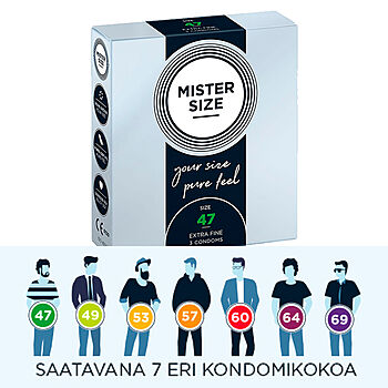 Mister Size - Extra Fine Kondomi, 3 kpl
